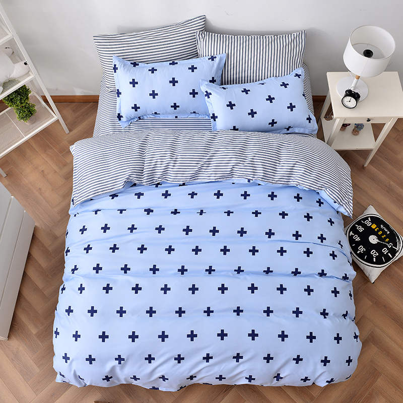 geometric cross striped bedding sets nordic style quilt/duvet covers comforters single twin full queen king size adults bedroom