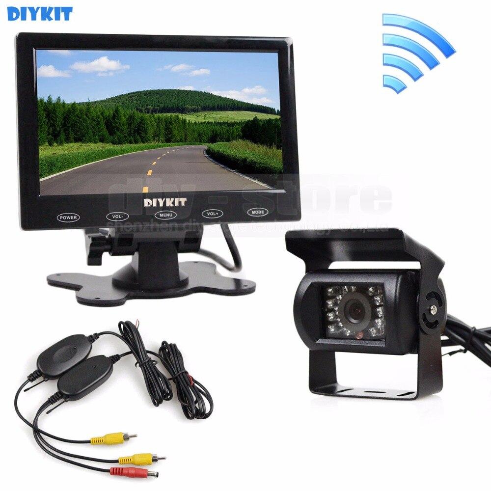 DIYKIT 12V Wireless Rear View Kit For Horse Trailer Motorhome Backup CCD font b Camera b