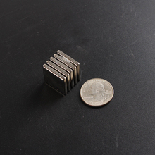 Permanent NdFeB magnet, Neodymium block strong magnet clasp,fridge magnet powerfull magnet cube board N35 Ni plating 20X20X3mm