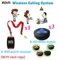 Система беспроводных звонков  433 92 МГц  для спа-салонов и спа-салонов (1 часы и 3 кнопки вызова)