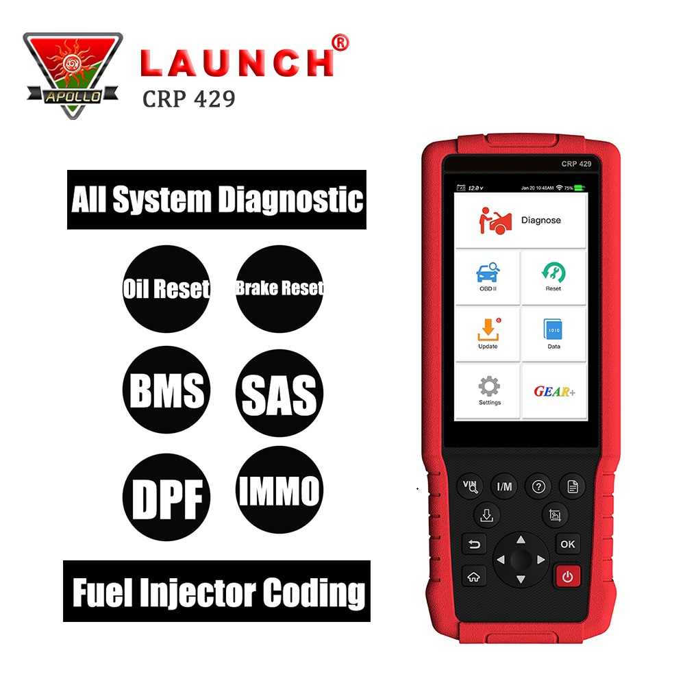 Launch X431 CRP429 OBD2 Code Reader OBDII Auto Diagnostic Tool Scanner for Car All System Better than CRP429C Creader CRP123 launch x431 obd2 diagnostic tool obdii bluetooth adapter scanner cars code readers for ios android m diag