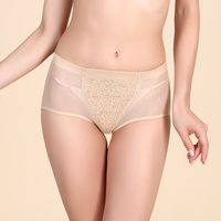Free Shipping 3Piece Lot High Quality Beige Black Lace Underwear Of Women M L Panties Lady