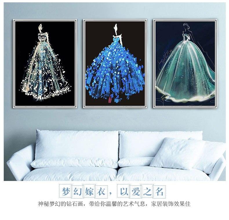 5D 50 * 60cm γαμήλιο φόρεμα Διαμάντι - Τέχνες, βιοτεχνίες και ράψιμο - Φωτογραφία 5
