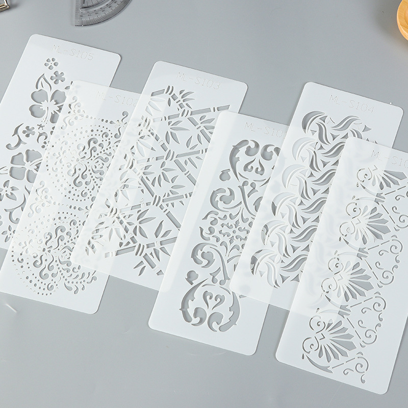 DIY Scrapbooing Stencil Plastic Reusable Layering Stencil For Painting, Diary Album DIY Decorate