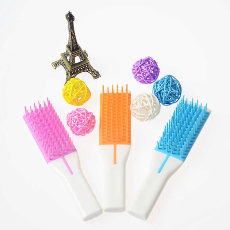 Atendimento ao idoso quadrado gabinete e delicado Anti-estática pente pentear o cabelo macio ferramenta de cabeleireiro pente de plástico (cor aleatória)