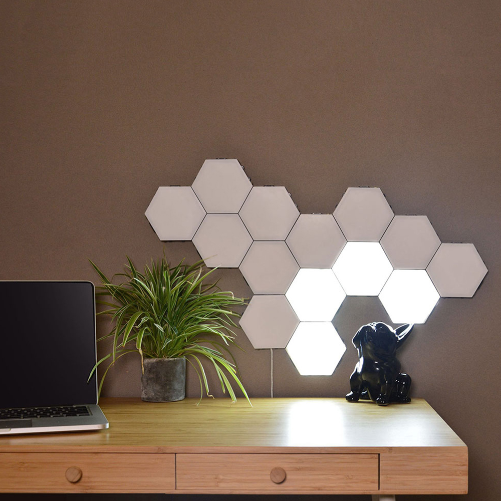 Quantum Light Led Mosaic Hex Light Modular Touch Sensor Light Night Light Magnetic Hexagon Creative Wall Lamp House Of Novelty