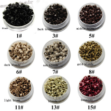 free shipping  4.5*3.0mm Aluminium Tubes Micro Rings/Links/Beads with screw For Human Hair Extensions/feather tip hair