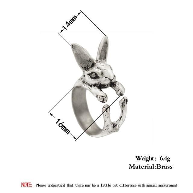 Ajustable QIAMNI Vintage Hippie Chic conejo hecho a mano conejo Animal nudillos anillos para las mujeres dije para chicas regalo de joyería de moda 2