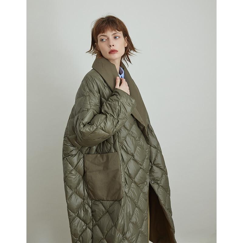 Линетт's CHINOISERIE осень зима новый оригинальный дизайн для женщин Винтаж Свободные с капюшоном толстые белые пуховики и пальто