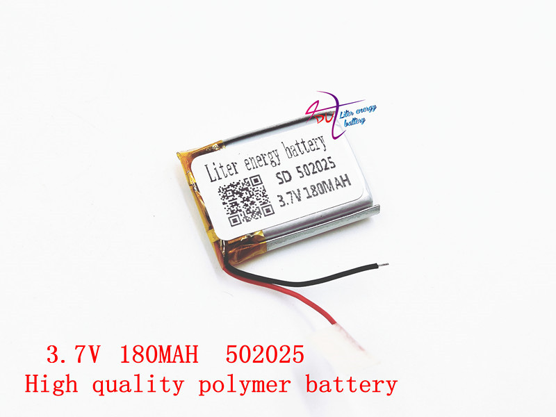 3.7v polymer 502025 180mah Liter energy battery bus S650 recorder MP3 bluetooth headset
