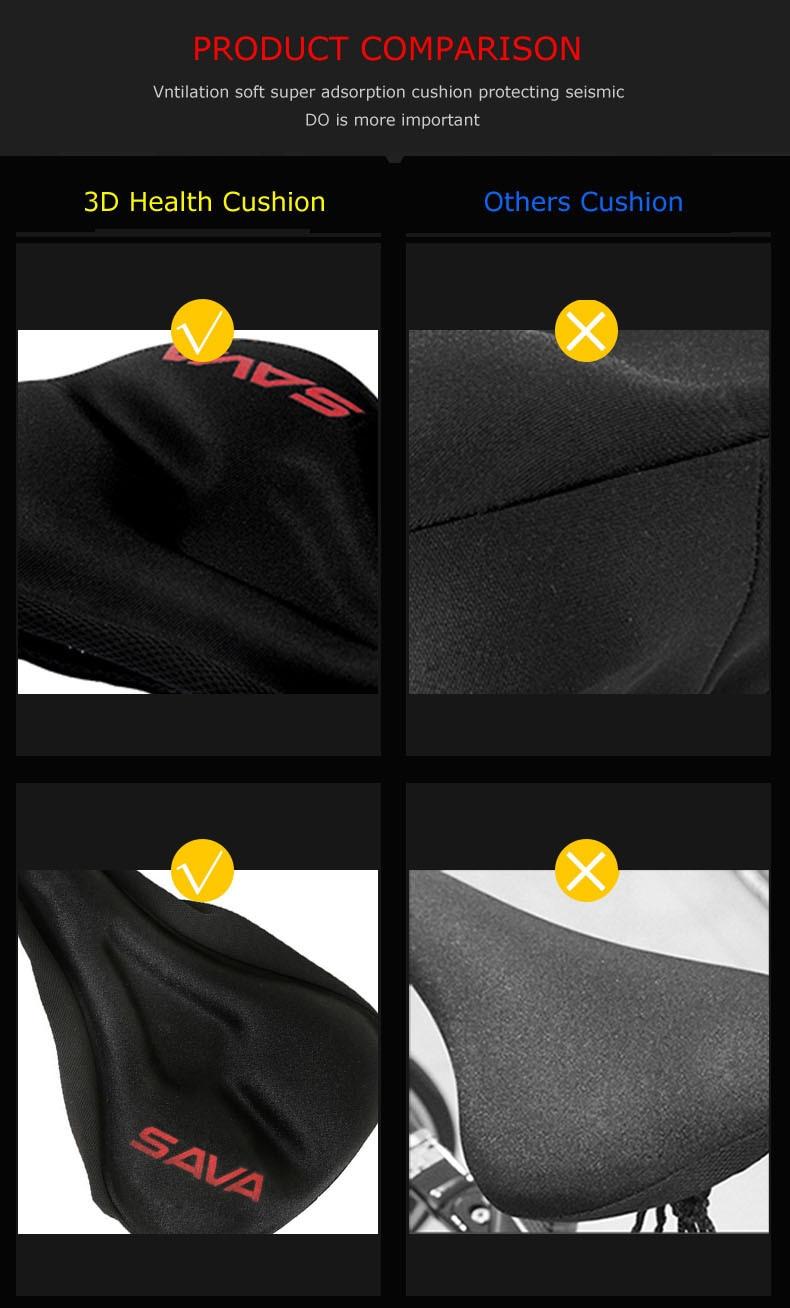 SAVADECK 3D Sponge Lycra Bicycle Saddle Seat Saddle Cover Ventilate Soft Cushion