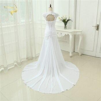 2019 New arrival Wedding Dress Elegant Applique Dress Chiffon Beading Vestidos De Novia Plus Size Beach Bridal Gowns 399390UJL