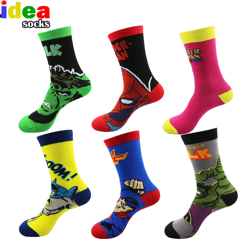 European Mens Cartoon Anime Cotton Jacquard Socks Crazy 3d Men Wedding Dress Socks Novelty Funny Socks For Women