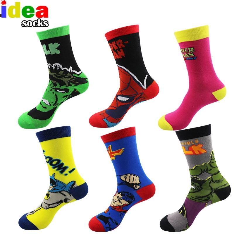 European Mens Cartoon Anime Cotton Jacquard Socks Crazy 3d Men Wedding Dress Socks Novelty Funny Socks For Women