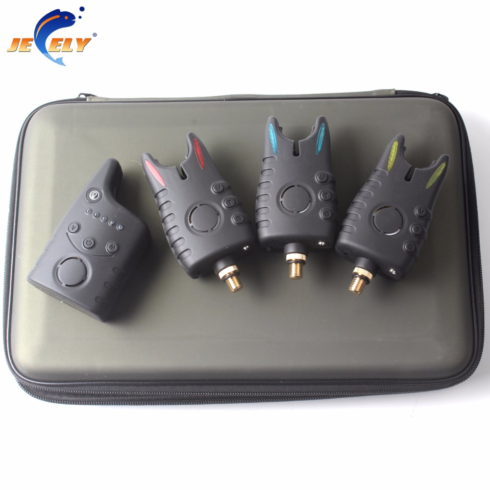 (SHIPPING FROM RU) New Arrival JY-49-3 Wireless Bite Alarm Set Carp Fishing Bite Alarm Set with Receiver For Fishing Swinger платье для новогоднего корпоратива 2014 купить