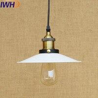 Iwhd 미국 로프트 스타일 철 레트로 droplight 에디슨 산업 빈티지 펜 던 트 전등 다이닝 룸 매달려 램프