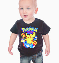 Z&Y 2019 Summer Pokemon T Shirt Boys Clothing Kids Clothes Toddler Girls Short Sleeves Tops Pikachu T-shirt