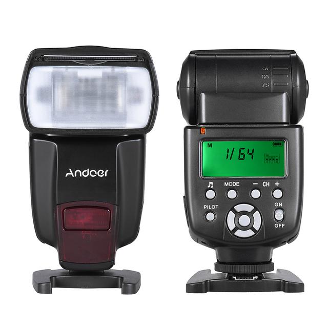 Andoer AD560 IV 2.4G Wireless Universal On-camera Slave Speedlite Flash Light GN50 w/ Trigger for Canon Nikon Sony  DSLR Cameras