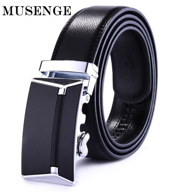 f56ab59e3e2 MUSENGE Male Genuine Leather Belts Men Cintos Para Homens Ceinture Homme  Luxe Marque Automatic Cinturon Hombre Designer Waist