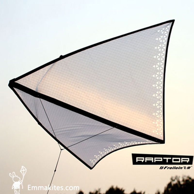 White Zero Wind Circling Delta Kite for Adults Kids Single Line Kite with 5M Tail / 50M Kite Flying Line Outdoor Toy Fun