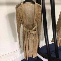 women long cardigan sweater 2018 spring long sleeve cardigan women fashion knitted cardigan with sash