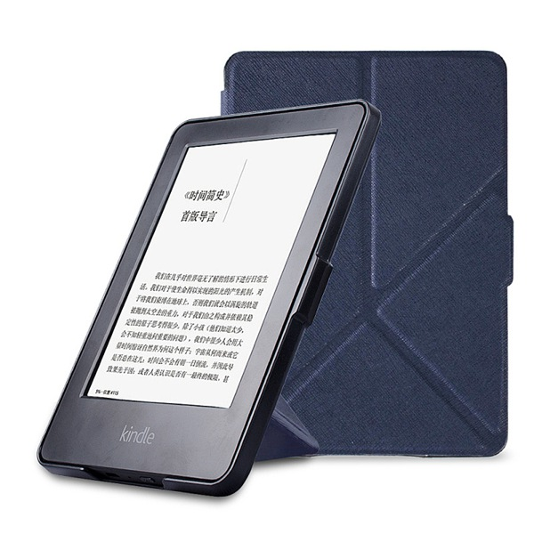 origami stand magnetic PU leather cover case folio case for Amazon Kindle Paperwhite 1 2/paperwhite3(New model)+free stylus+film