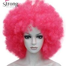 Afro Jumbo Festival Fans Wig clown Costume Halloween Dress U