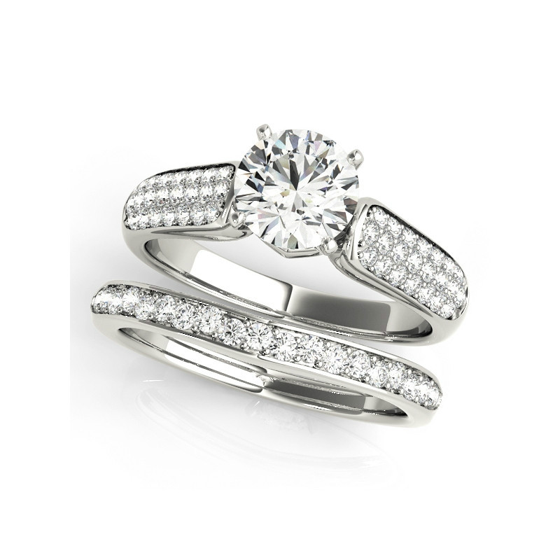 QYI 925 Sterling Silver Jewelry Rings Fashion Wedding Engagement Ring Sets For Women 1 ct Zircon Romantic JewelryQYI 925 Sterling Silver Jewelry Rings Fashion Wedding Engagement Ring Sets For Women 1 ct Zircon Romantic Jewelry
