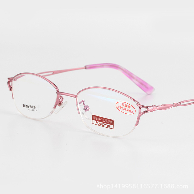 de61828ad4 Fashion Young Woman Fund Presbyopic Glasses Titanium Half Frame Presbyopic  Hyperopia Astigmatism Customized Optics Glasses 310