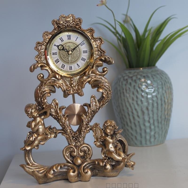 Style européen artisanat horloge chambre luxueux ange bureau horloge bureau étude chambre décoration - 3