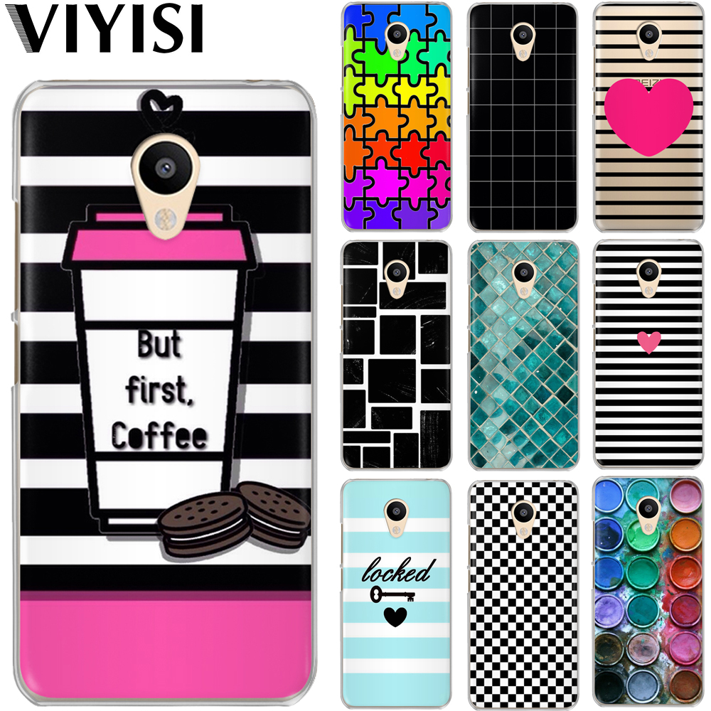 VIYISI For Meizu U20 10 M6 5 Note M5S 5C M3 3s Pro6 Painted Phone Case shell  Cover Fashion