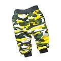 Primavera y Otoño 0-2 años bebé pantalones Militares de Camuflaje estilo pantalones deportivos 1 unidades niños de algodón bebé pantalones/pantalones de las muchachas