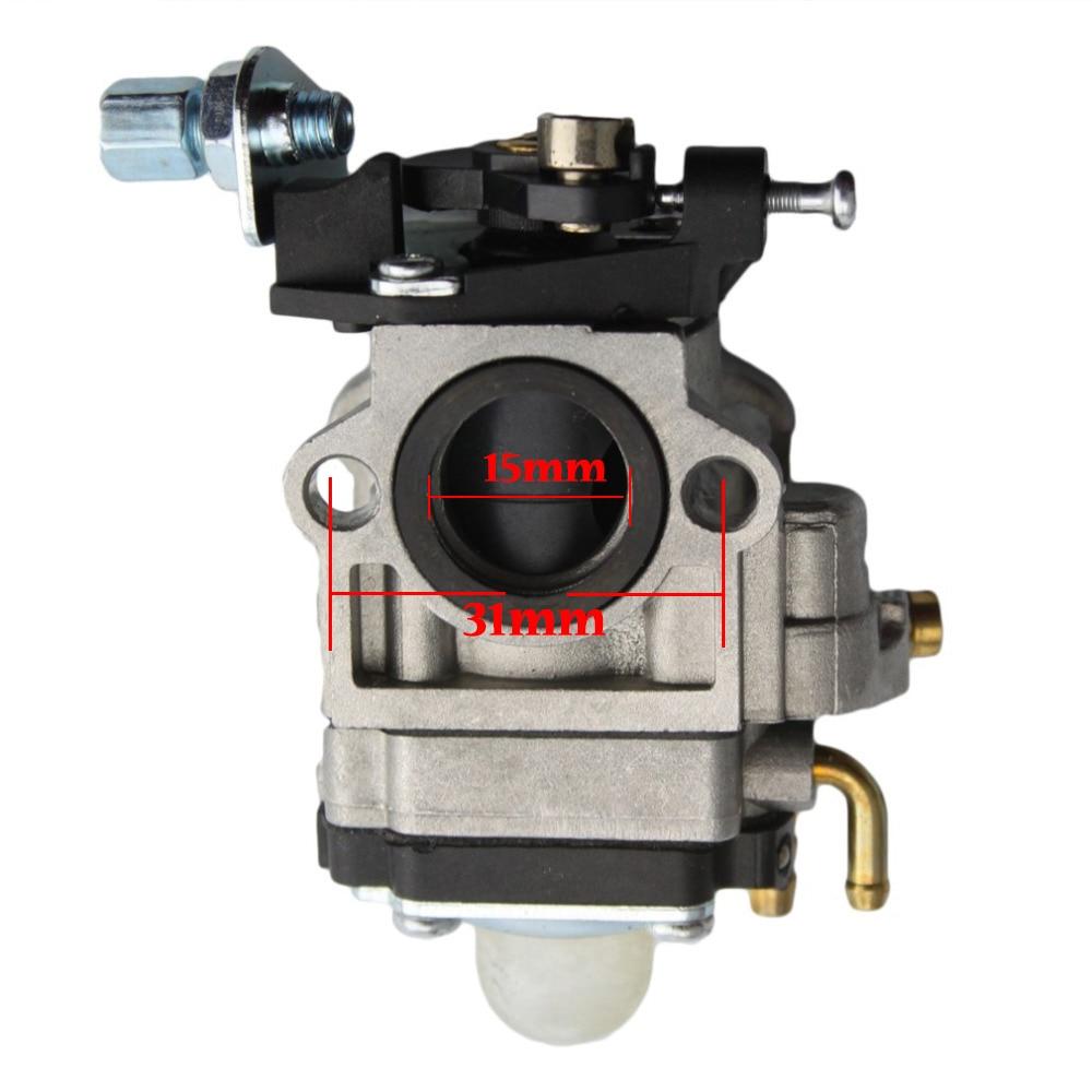 GOOFIT 15mm karburaator Karburaatori krundipirn Carb 49cc 2-taktiline - Mootorrataste tarvikud ja osad - Foto 2