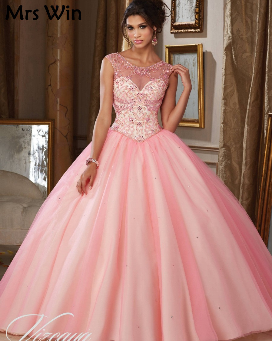 6e7428c96c22 Vestido 15 Anos Debutante Gowns Princess Cinderella Cheap Puffy Ball Gown  Quinceanera Dresses Pink Sweet 16 Dresses