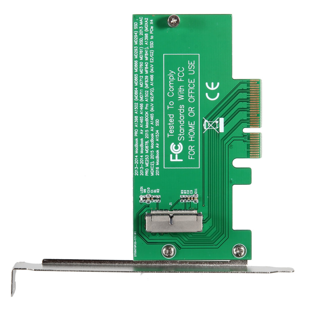 New Adapter Card To PCI-E 4X For Apple 2013-2015 MacBook Air A1465 A1466 Pro A1502 A1398 MD712 SSD QJY99