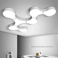 Luces de techo Led modernas para iluminación de interiores plafón con forma de células led, accesorio de lámpara de techo para sala de estar, dormitorio, luminaria teto