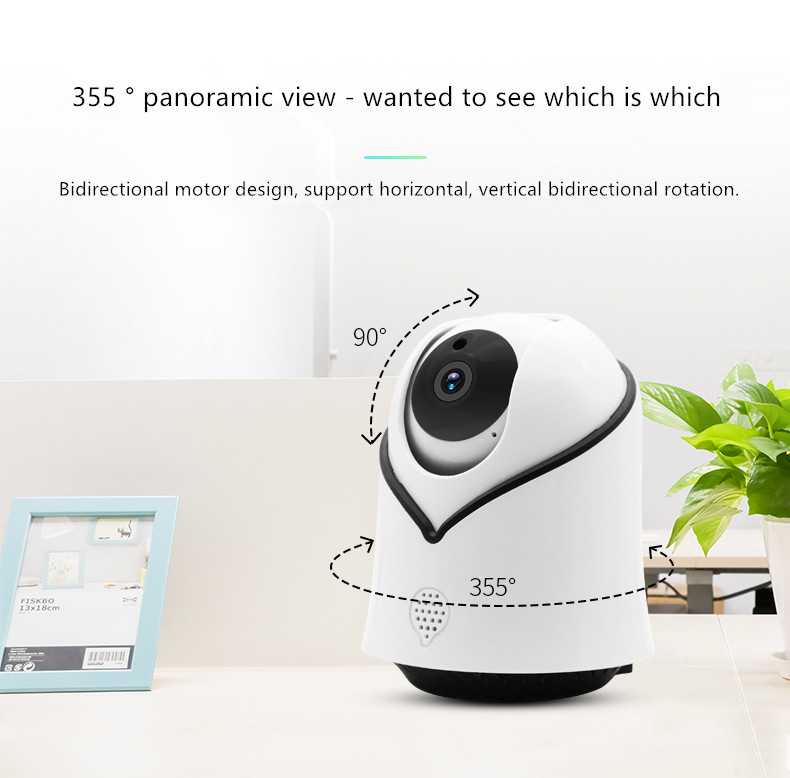WiFi Camera indoor 720P IP Security Camera Wireless Surveillance Camera with Night Vision up to Motion Detection Alarm/ цена