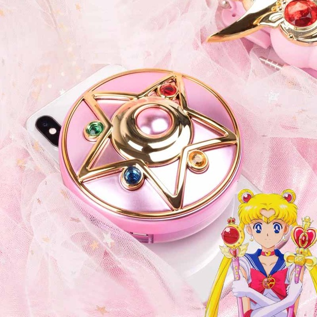 Japanese Anime Sailor Moon Moonlight Memory Series Crystal Star Mirror Case Cosmetic Make Up Mirror Cosplay Accessories Prop