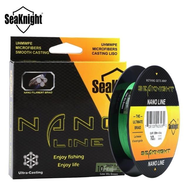 SeaKnight NANO 100 M/300 M hilo de pescar de PE Trenzado Súper fino 4 armadura línea de pesca 4LB 6LB 8LB 10LB flotante cuerda para carpa
