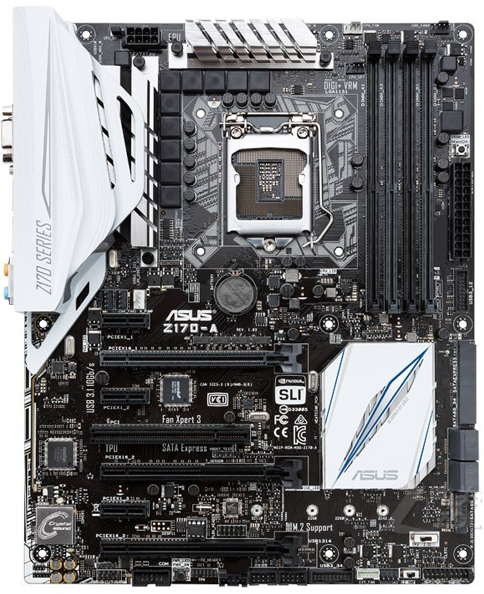 цены Used,Asus Z170-A Desktop Motherboard Z170 Socket LGA 1151 i7 i5 i3 DDR4 64G SATA3 USB3.0 ATX On Sale