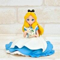 Alice in Wonderland Action Figure Toys 2018 New Sitting Princess Alice Figuras Dolls Movie Cartoon Brinquedos 9cm