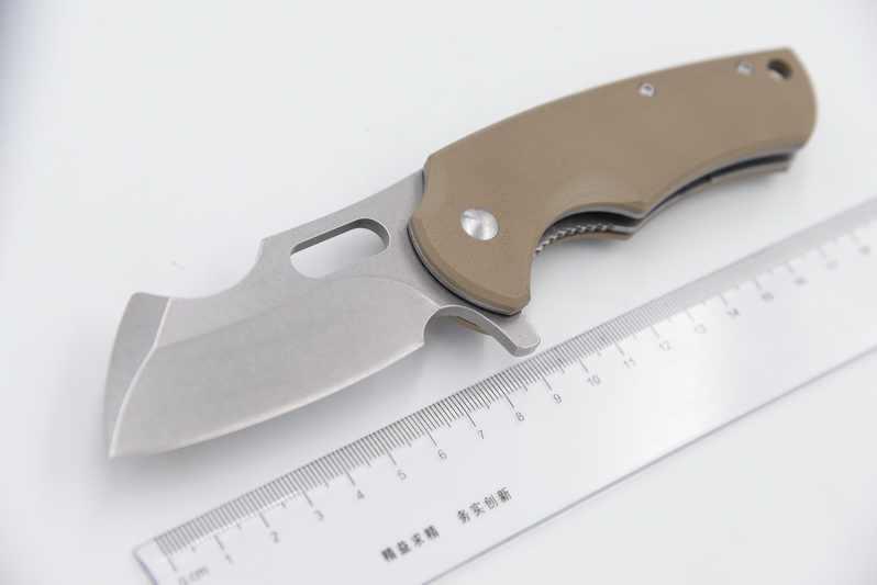 سكين مطبخ طراز CSgo 1802 D2 من JUFULE محمل كروي G10 قابل للطي للتخييم والصيد والخروج أدوات EDC