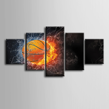 Wholesale 5 pieces Framed Canvas Print Modern Abstract basketball series Painting Home Decoration Free shipping/ZT-3-32