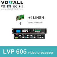 Free Shipping Led Processor LVP605 With 1pc Linsn Ts801 Inside Scaler