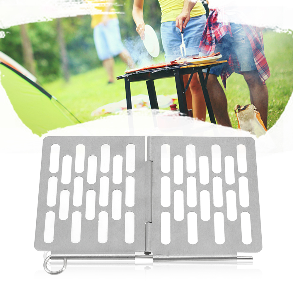 Mini Stainless Steel Folding Barbecue Basket Portable BBQ Grill Basket Grate Picnic BBQ Camping Stove Accessories
