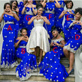 Amazing Royal Blue Mermaid Bridesmaid Gowns 7 Styles 2016 New Arrival Bridesmaids Dress For Wedding Women Special Occasion Dress