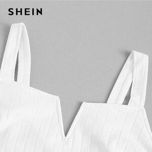 Image 4 - Shein colete bege com corte slim em cor lisa feminino, festa verão 2019 bases minimalista alcinha espaguete