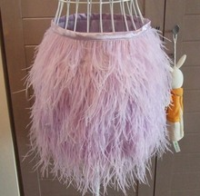 Ostrich feather skirt size