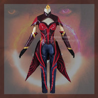 The Game New Custom Made LOL Elementalist Fire LUX Magma Cosplay Costume High Quality Highly Reductive+Stick