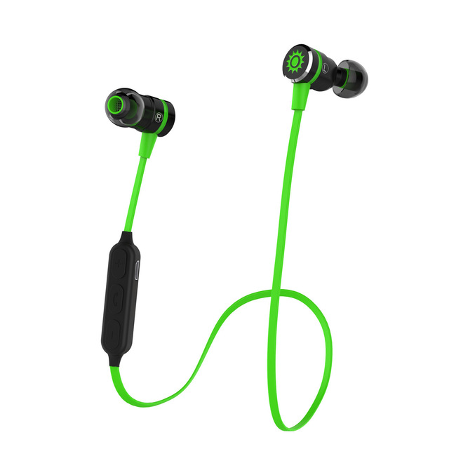 Smarcent Bluetooth 4.1 Headset Sports Headphone Wireless in Ear Stereo Earphone Mic Magnetic Adsorption Smart Switch PK QY12 remax rb s7 headphone magnetic neckband bluetooth v4 1 wireless hd stereo sports earphone music headphone with mic multi connect